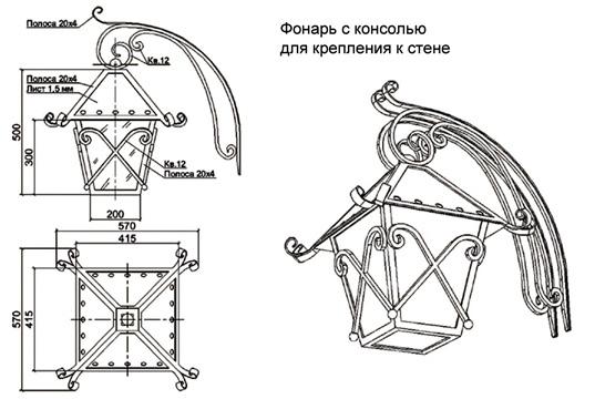 Как сделать кованый светильник своими руками из